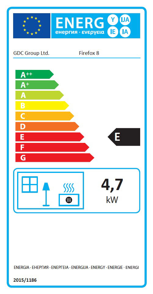 Firefox 8 Gas Stove Energy Label