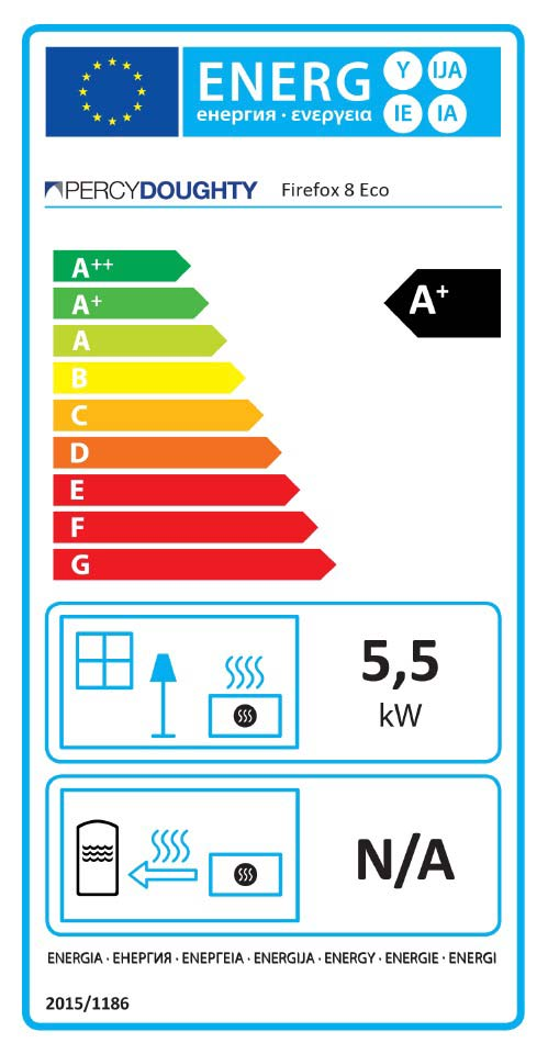 Firefox 8 Eco Stove Energy Label