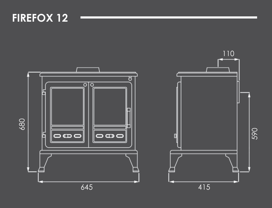 Firefox 12 Stove Dimensions